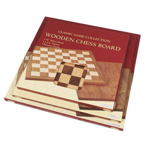 "Chessboard: Walnut 16"" Cushioned Corners"