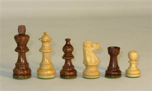 "Chess Set: Sheesham French 3"" Men on 12"" Walnut/Maple veneer board"