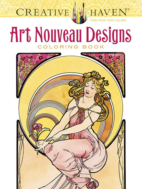 Art Nouveau Designs: Creative Haven Coloring Book