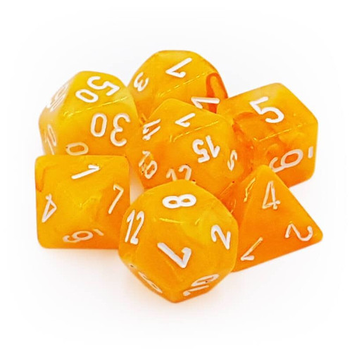 Festive Luminary Flare/White Dice Set (Sold Out)
