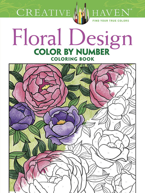 Floral Color-By-Number: Creative Haven Coloring Book (Sold Out)