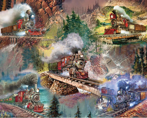 Thrilling Trains 1000pc