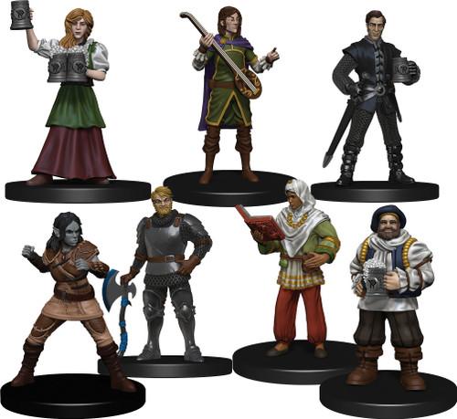 The 7 Friendly Faces miniatures.
