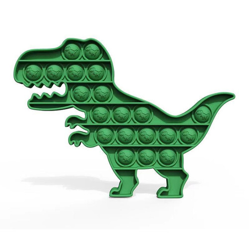 Green Dinosaur (t-rex shaped) Pop Fidgety