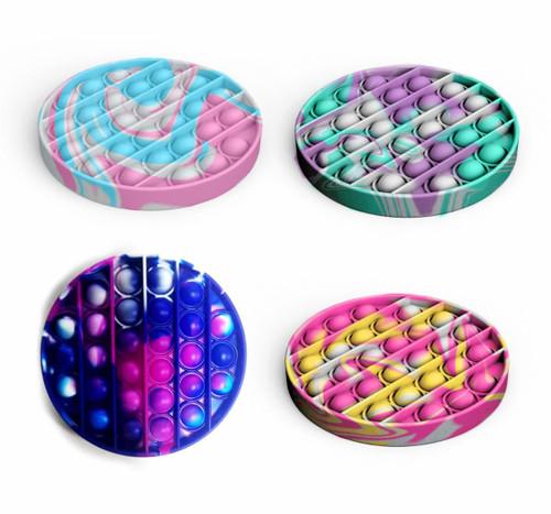Tie-Dye Round Pop Fidgety in 4 styles, set A