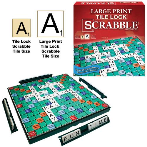 Tile Lock Scrabble Large Print