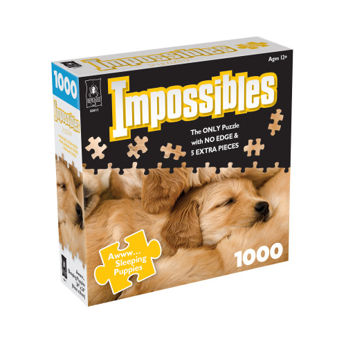 Awww...Sleeping Puppies, Impossible Puzzle 1000pc