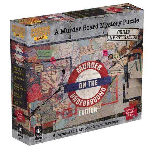 Murder on the Underground—Case Files Puzzles: Murder Mystery Party (On Order)