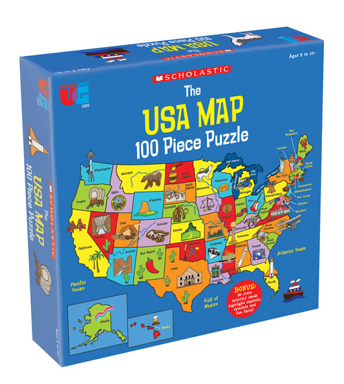 Scholastic USA Map Puzzle 100pc (Sold Out)