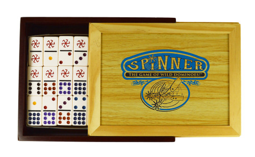 Spinner Dominoes—Front Porch Classics (Wood Case)