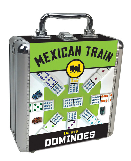 Mexican Train Dominoes—Deluxe Case (Sold Out)