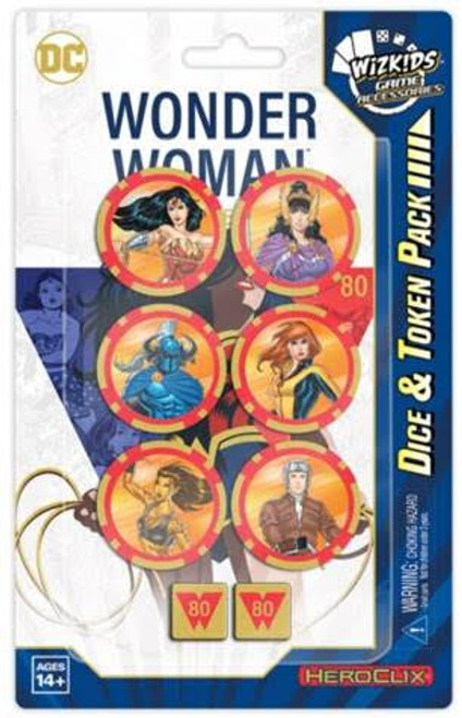 DC HeroClix: Wonder Woman 80th Anniversary Dice and Token Pack box
