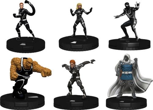 Marvel HeroClix: Fantastic Four Future Foundation Fast Forces minis