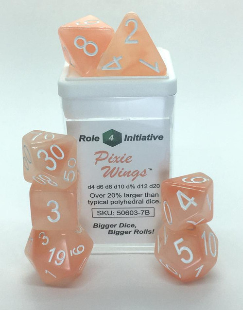 Pixie Wings polyhedral dice