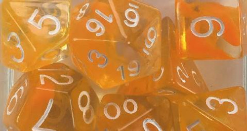 Citrus Diffusion polyhedral dice
