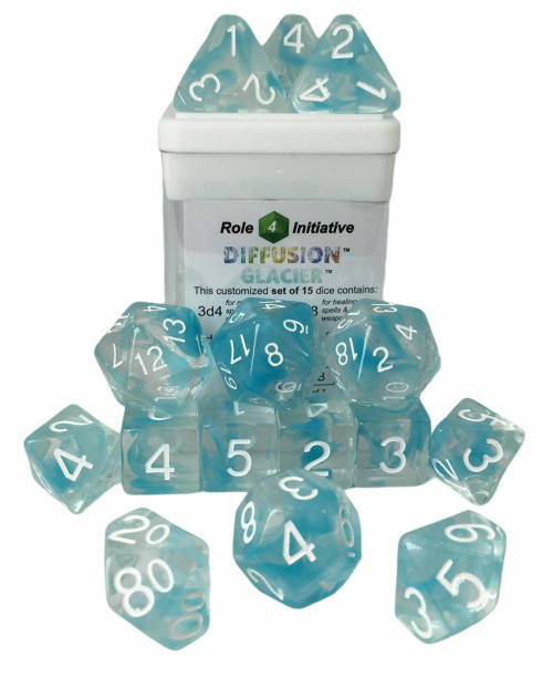 Glacier Diffusion Dice (Set of 15) (Sold Out)