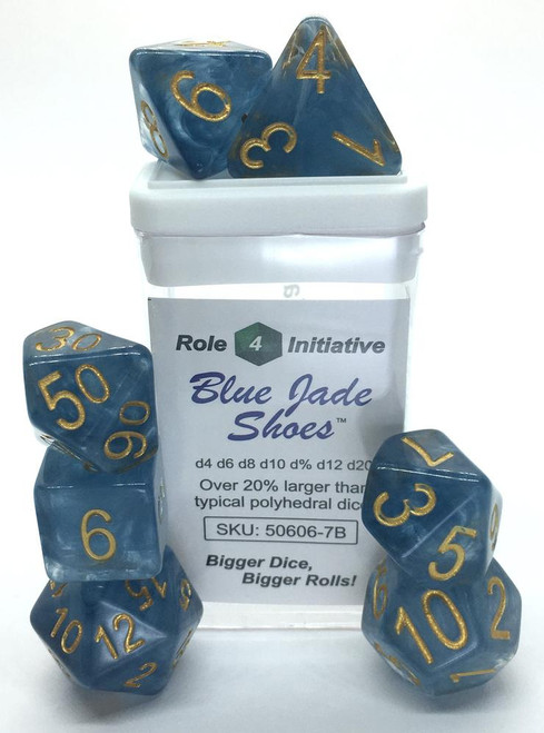 Blue Jade Shoes polyhedral dice