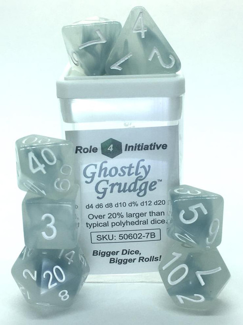 Ghostly Grudge polyhedral dice