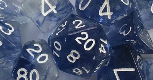 Blue Ink Diffusion polyhedral dice
