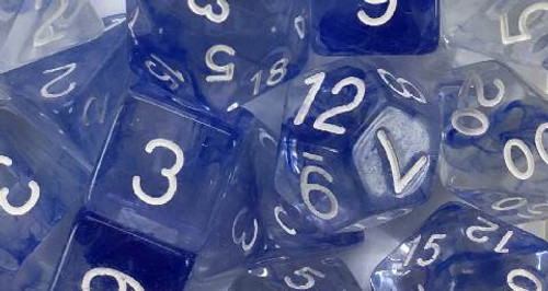 Sapphire Diffusion polyhedral dice
