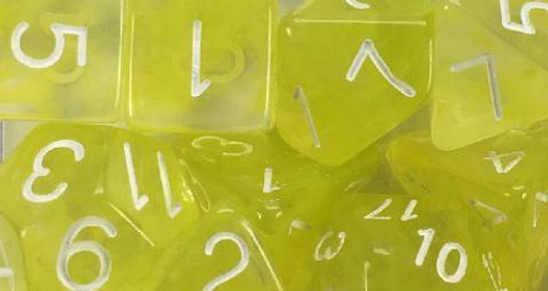 Ochre Jelly Diffusion polyhedral dice