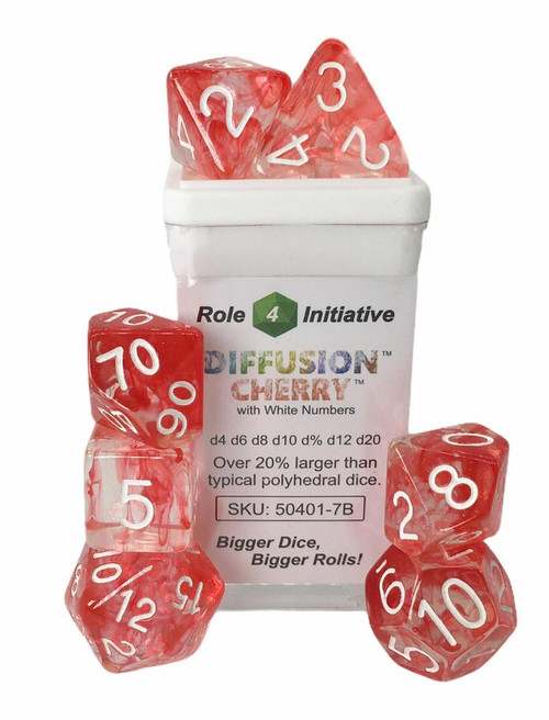 Cherry Diffusion polyhedral dice
