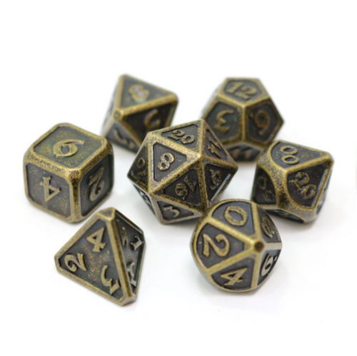 Mythica Dark Gold, Metal Dice Set (Sold Out)