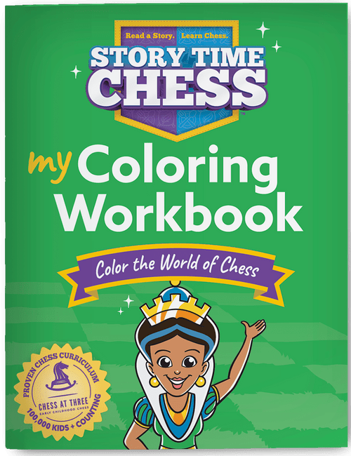 Story Time Chess Coloring Workbook Level 1 cover