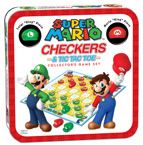 Super Mario Brothers Checkers & Tic-Tac-Toe tin