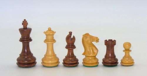 """3.5"""" King Kikkerwood and Boxwood Chessmen"""
