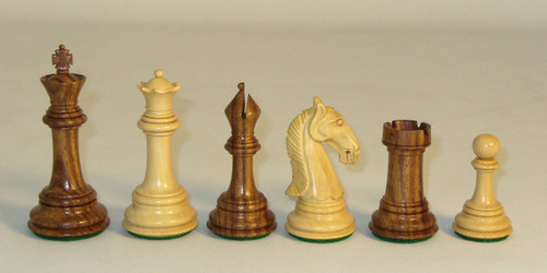 "3.75"" King Camelot style men in Sheesham - this set is Camelot style men in Kikkerwood"