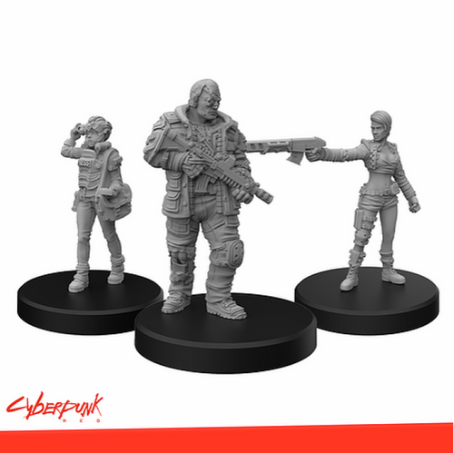 Cyberpunk Red Miniatures: Edgerunners D: Solo, Nomad, Media (Sold Out)
