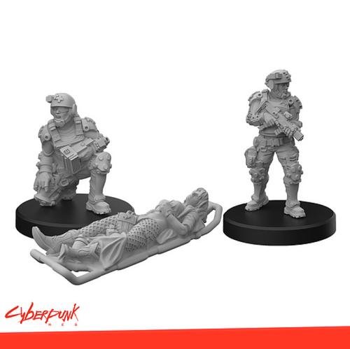Cyberpunk Red Miniatures: Trauma Team A (Sold Out)
