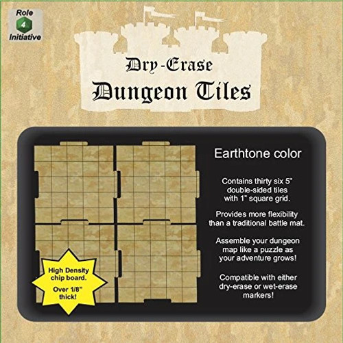 """Earthtone Dungeon Tiles: 36-Pack of 5"""" Squares (Sold Out)"""