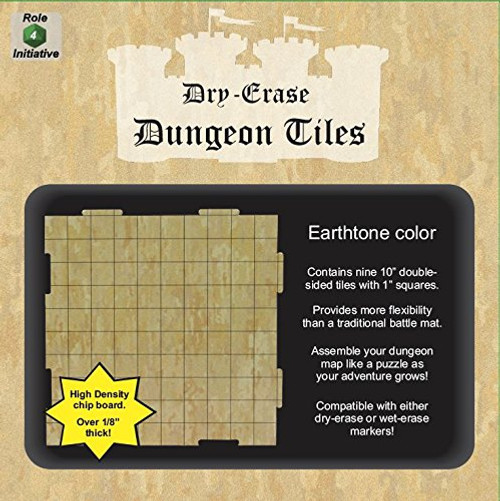 """Earthtone Dungeon Tiles: 9-Pack of 10"""" Squares"""