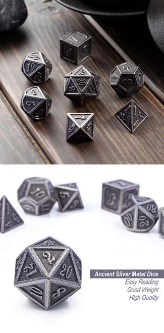 Iron Metal Dice Set