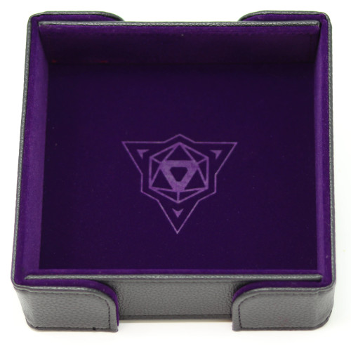 Purple Square Magnetic Folding Dice Tray