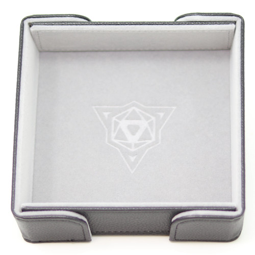 Grey Square Magnetic Folding Dice Tray