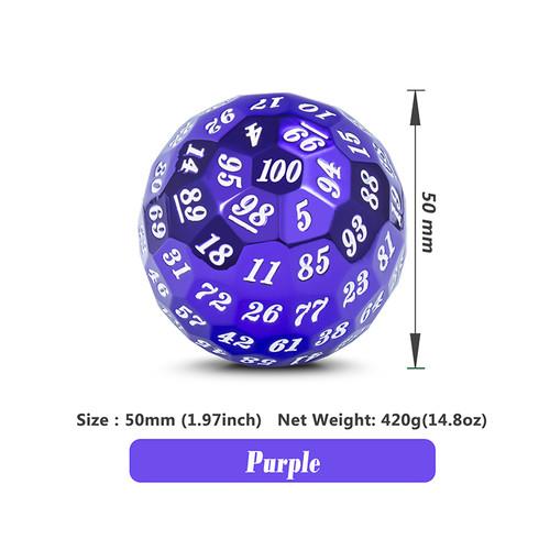 Metallic Purple d100 Metal Die