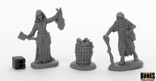 Fishwife & Crone, Dreadmere Townsfolk—Bones Black (Sold Out)