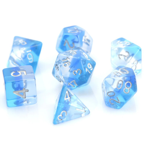 Transluscent Ice Storm Dice Set (Sold Out)