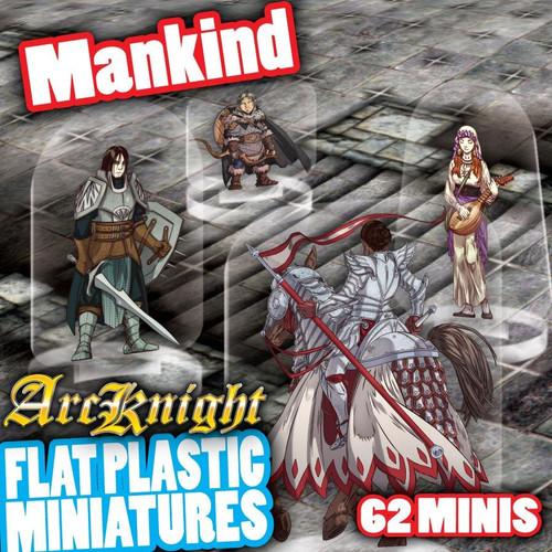 Mankind 62pc—Flat Plastic Minis