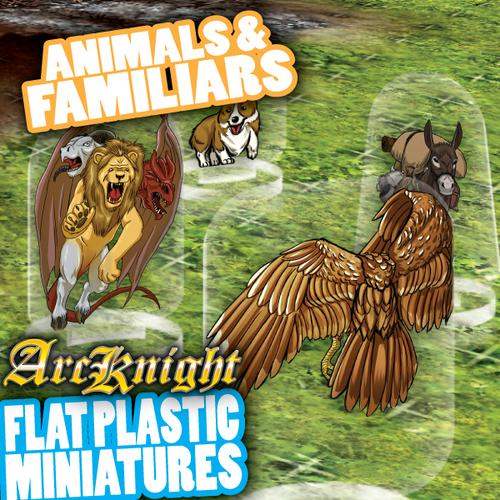 Animals & Familiars 62pc—Flat Plastic Minis
