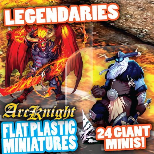 Legendary Horde 24pc—Flat Plastic Minis