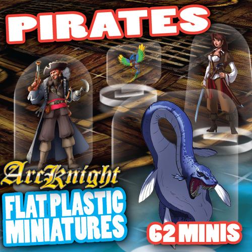 Pirates 62pc—Flat Plastic Minis