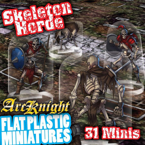 Skeletons Horde 31pc—Flat Plastic Minis (Sold Out)