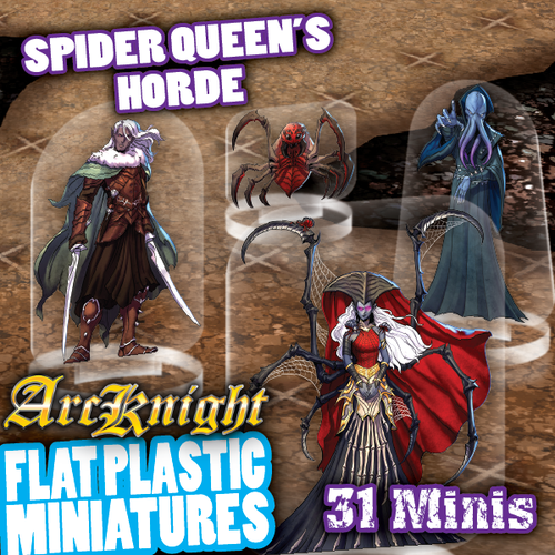 Spider Queen's Horde 31pc Flat Plastic Minis (Sold Out)
