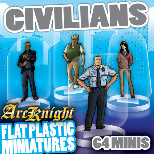 Civilians 64pc—Flat Plastic Minis