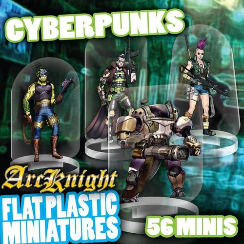 Cyberpunks 56pc—Flat Plastic Minis
