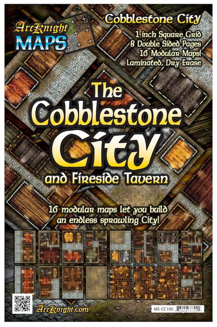 "Cobblestone City Battle Map—8-piece, 1""square"